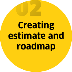 Step 2: Creating estimate and roadmap